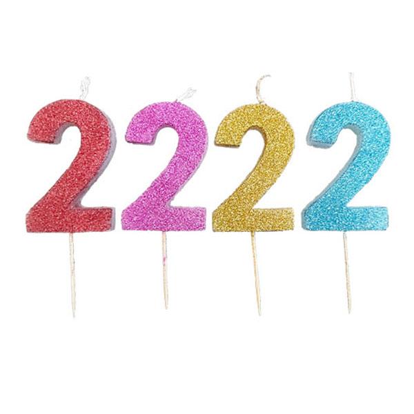 شمع اعداد اکلیلی در رنگهای مختلف
