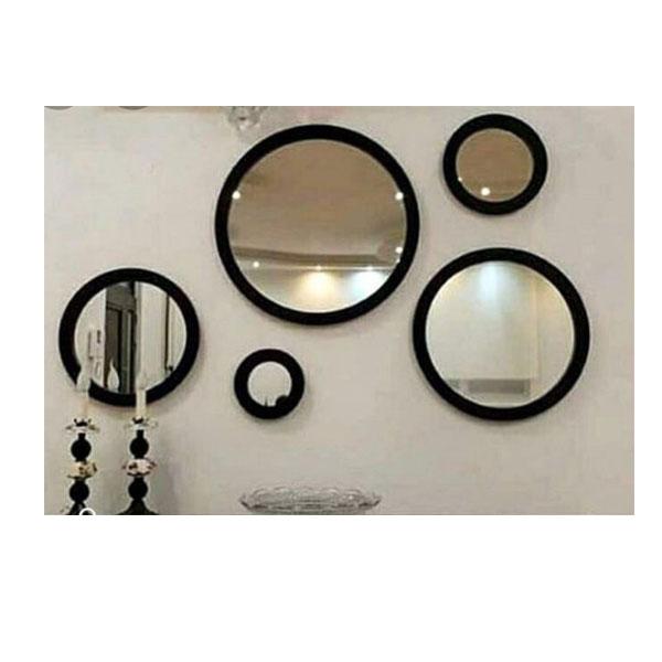 آینه ۵ تیکه چوبی