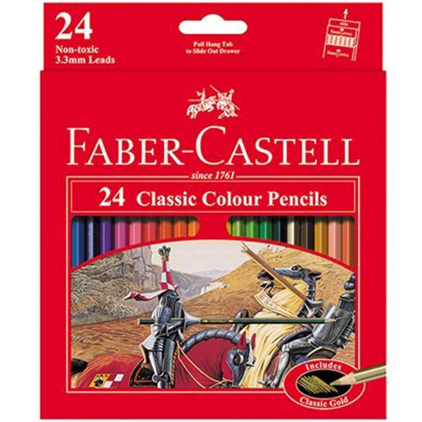 مداد رنگی ۲۴ رنگ فابر-کاستل مدل Classic
