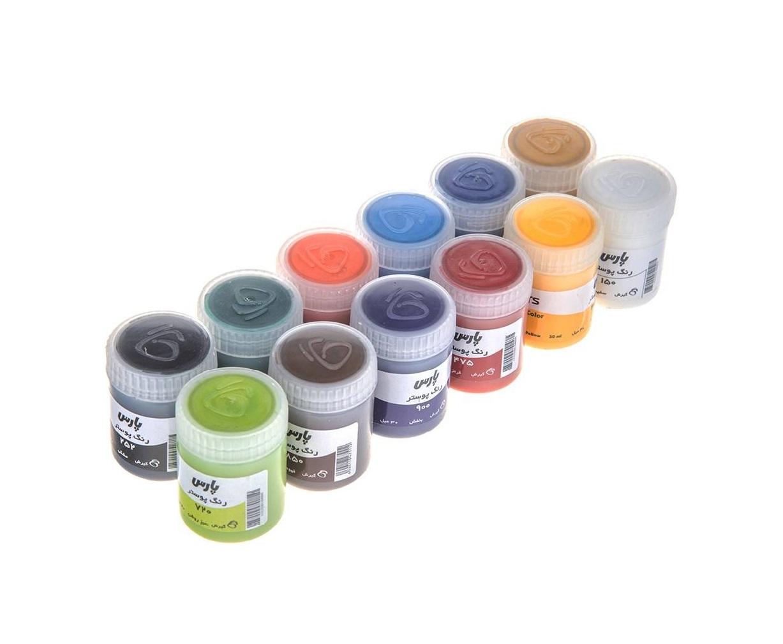 گواش ۱۲ رنگ پارس مدل ۰۰۳۶
