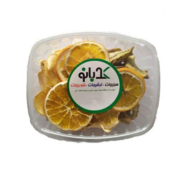 میوه خشک چهار نوع بسته ۱۰۰کرمی