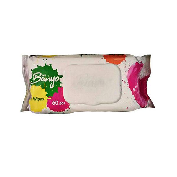دستمال مرطوب بانیو مدل General بسته ۶۰ عددی