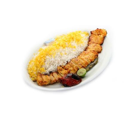 دو سیخ جوجه با برنج ( خانگی )   –  سفارش فقط برای نهار