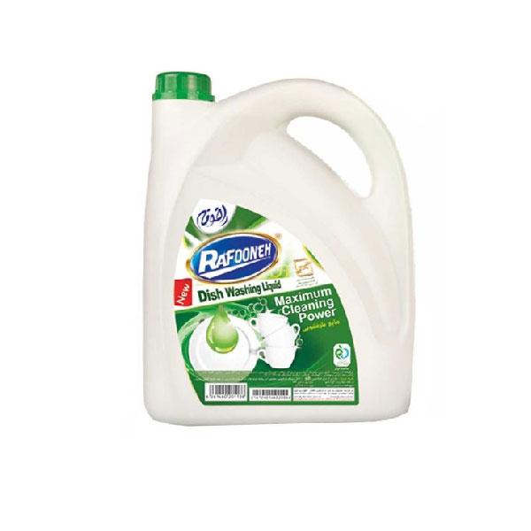 مایع ظرفشویی سبز رافونه مقدار ۴ لیتری