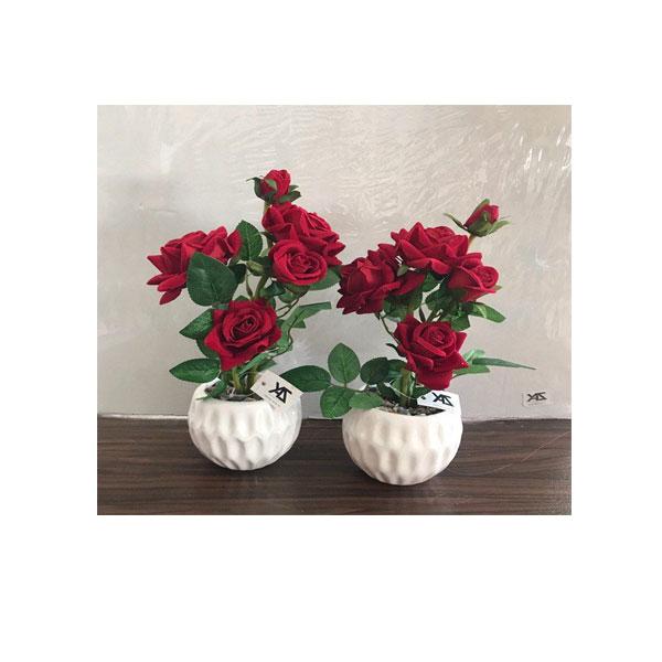 گلدان گل رز مخملی