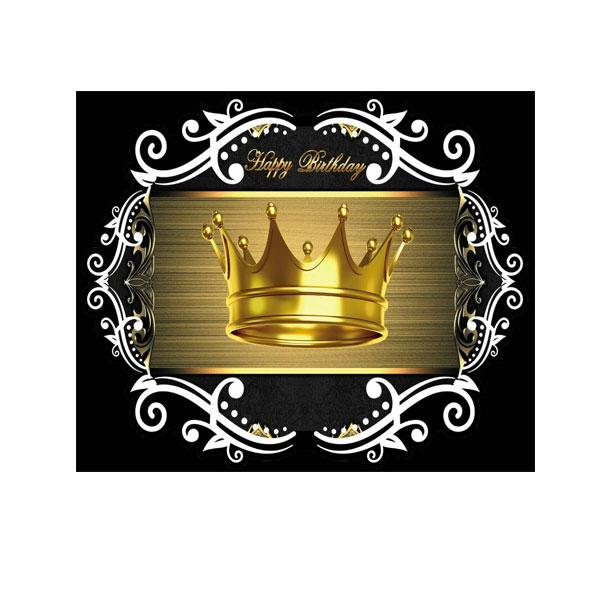 تم کامل تاج طلایی مشکی