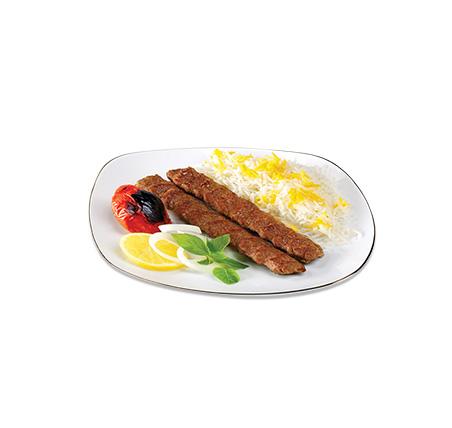 دو سیخ کباب با برنج ( خانگی )   –  سفارش فقط برای نهار