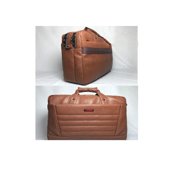 کیف چرم قهوای لب تاب و اداری